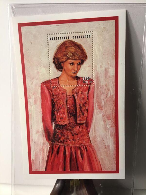 International Collectors Society 46260 Princess Diana Pink Dress Stamp Togo 1997