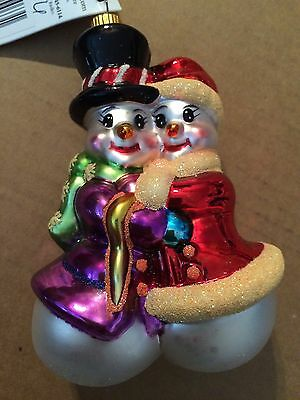 "CHRISTOPHER RADKO ""Snow In Love"" Ornament NEW"