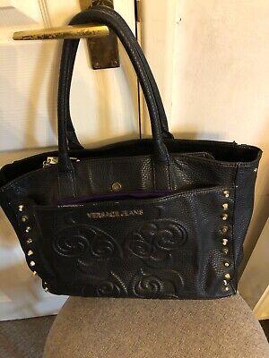 Versace Jeans Black Tote Style Handbag