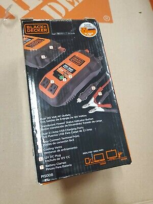 Black Decker 500-Watt Power Inverter P1500B USB Battery Lighter Convertor HD092, used for sale  Shipping to India