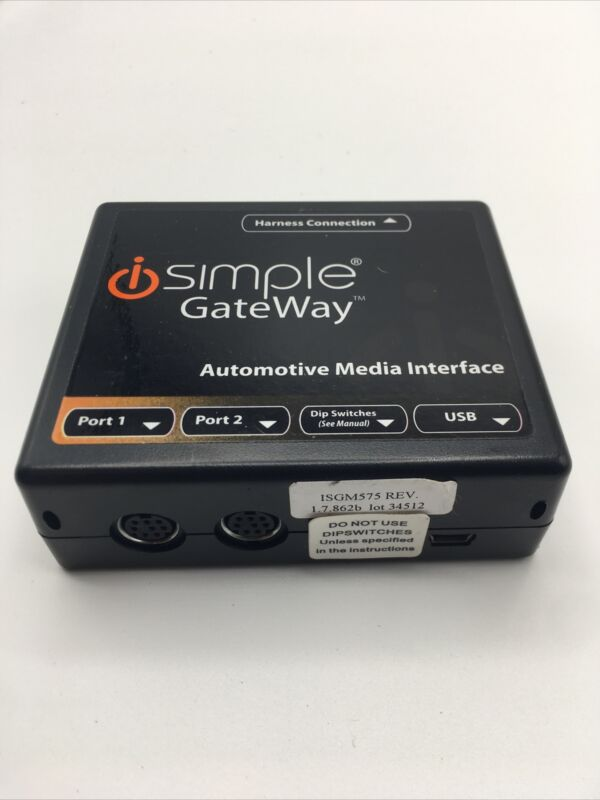 SIMPLE GATEWAY AUTOMOTIVE MEDIA INTERFACE MODULE ISGM575 Rev.