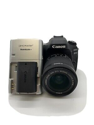 Canon EOS 80d 24.2mp DSLR Camera W/ EFS 18-55mm Lens