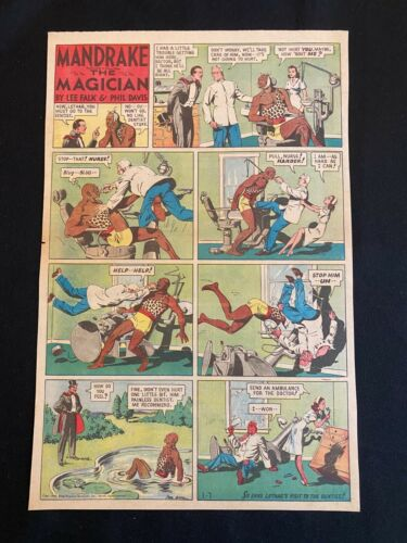 #53 MANDRAKE THE MAGICIAN by Lee Falk Lot of 3 Sunday Tab Full Page Strips 1940