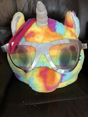 RAINBOW UNICORN HEAD MASK ONLY - COSTUME HALLOWEEN GIANT LARGE CUTE COLORFUL