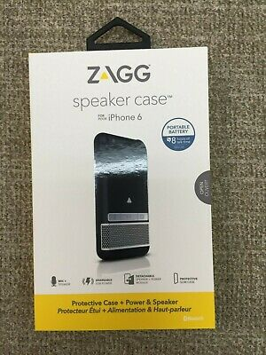 Genuine ZAGG iPhone 6 / 6S 4.7 Bluetooth Speaker MFi Battery Charger Case Cover