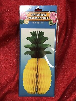 "12"" Tropical Pineapple Honeycomb Centerpiece Table Luau Party Decorations"