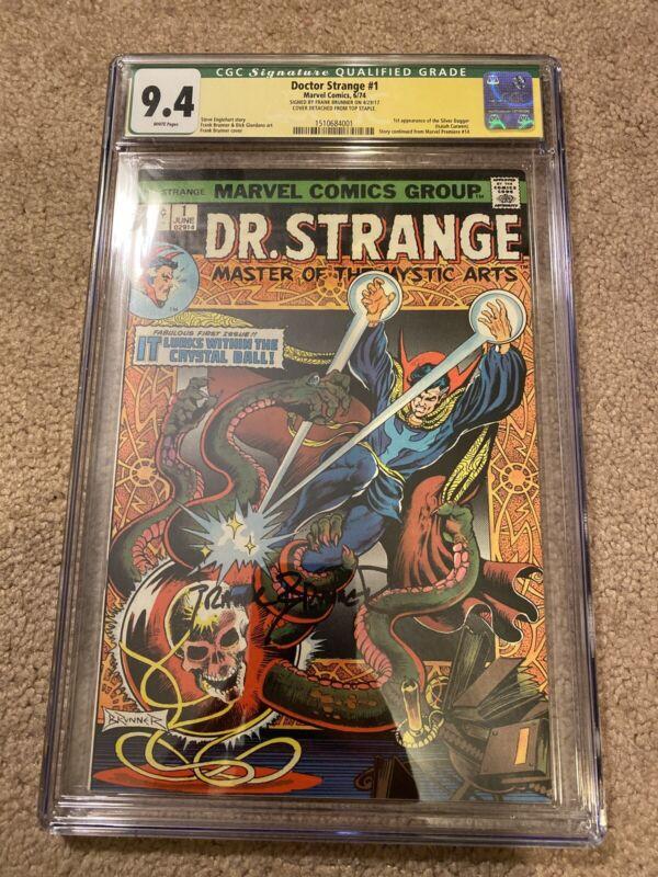 Doctor Strange #1 (1974) CGC 9.4 Signed Frank Brunner