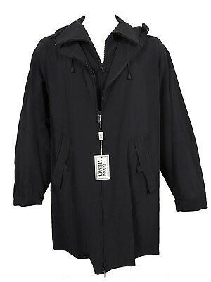NEW Vintage 90'S Gianni Versace Hooded Overcoat!  e 56  Approx XXL  *VERY ROOMY*