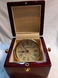 Howard Miller 645-443 Bailey Table Clock, Nautical or Executive look.