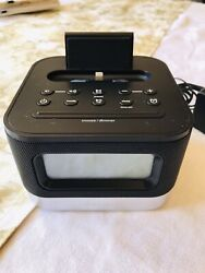 iHome iPhone iPod Space Saving Lighting Dock FM Radio Alarm Clock Speaker IPL10