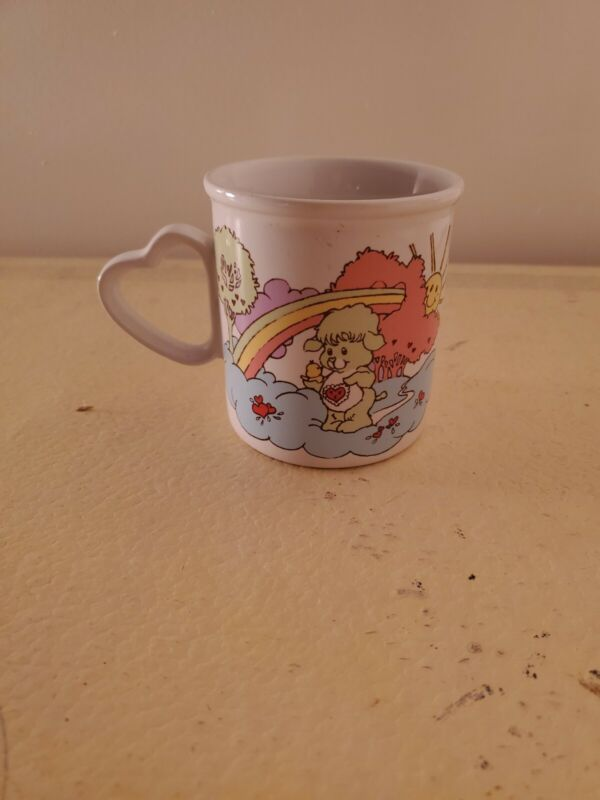 Vintage 1985 CARE BEAR COUSINS Coffee Mug Heart Handle, American Greetings