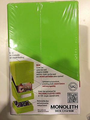 Light Green Monolith Ultimate Guard TOWER Deck Box Case Satin Hold Cards + Dice (Monolith Card Case)