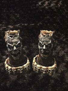 Skull candle stick holders