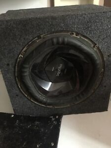 "Sony explod 10"" sub in a box with amp"