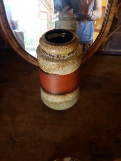 Vintage retro West German pottery vase