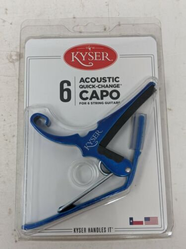 Kyser Quick-Change 6 String Electric Guitar Capo- Blue