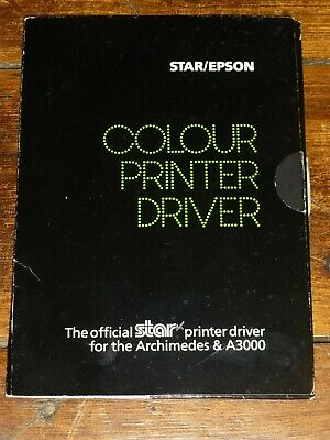 Star/Epson Colour Printer Driver for Acorn Archimedes, Risc OS Star Printer Drivers