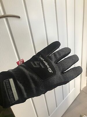 Snap On Wind Resistant Gloves Duel Layer Warmth And Grip Black/grey In Small NEW