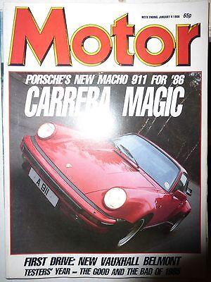 MOTOR 86/01/04 MITSUBISHI CORDIA TURBO PORSCHE 911 SE ALFA 33 VAUXHALL BELMONT for sale  Wakefield