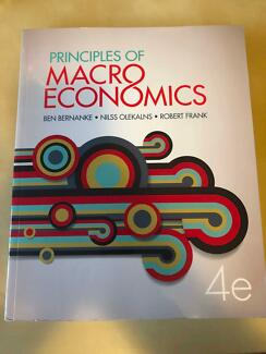 Macroeconomics textbook textbooks gumtree australia perth city principles of macroeconomics 4th edition fandeluxe Choice Image