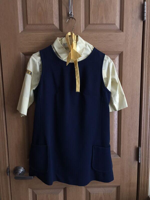 Vintage Girl Scouts Uniform Pants Hat Dress Set