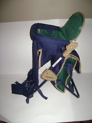 Baby Trend Green Blue Backpack Infant Toddler Hiking Carrier With Diaper bag
