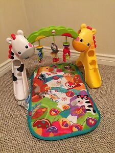 Fisher Price Baby Tummy Time Toy with Mat