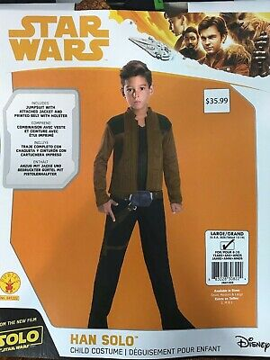 Han Solo Star Wars Costume Child Dress Up Cosplay Size M 8-10 (H31) (Han Solo Baby Costume)