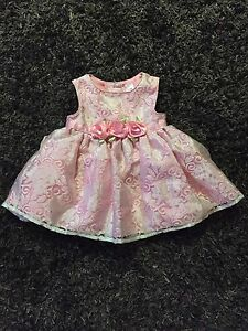 Girls size 3-6M pink dress