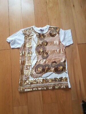 Mens Boohoo Versace  Print like  Top L