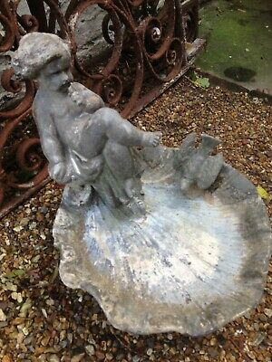 ANTIQUE VICTORIAN LEAD BIRD BATH