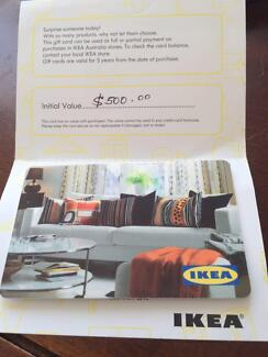 Ikea gift voucher value of $500