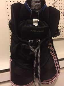 JR L/G Bauer Nexus Pants (Black & RedWhite Stripes)