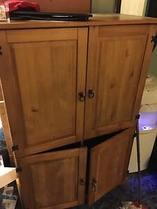 Solid wood pine cupboard PRICE IS FIRM