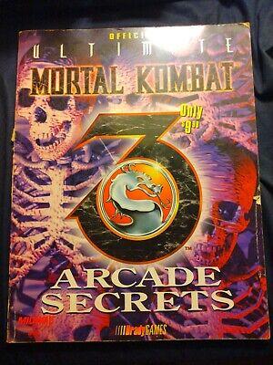 Official Brady Games Ultimate Mortal Kombat 3 Arcade Secrets Guide (Alt. Cover)