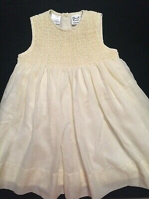 Sarah Louise Smocked Dress (Sarah Louise England Yellow Smocked Infant Baby Dress 12 Mo )