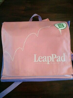 leapPad leapfrog learning system pink purple bag books cartridges lot tested