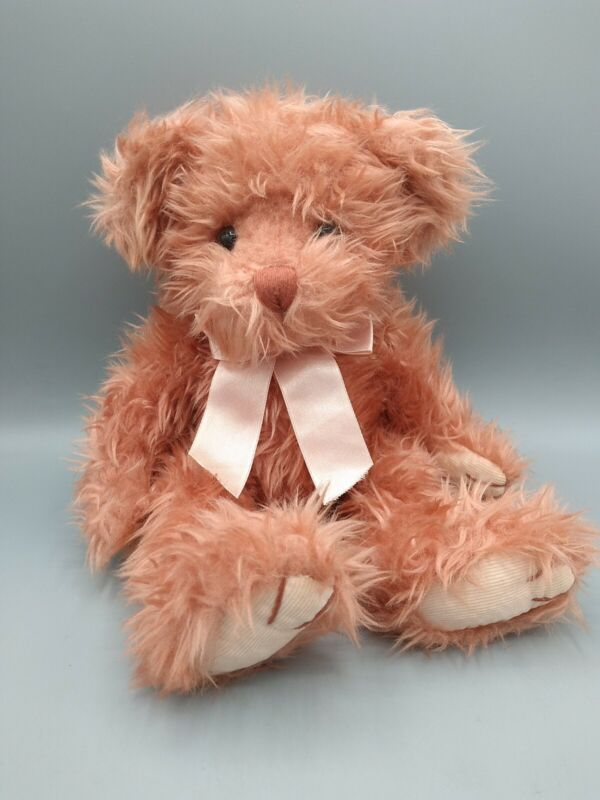 Teddy Bear Vintage Russ Berrie Plush Pink MARMALADE Bears From The Past