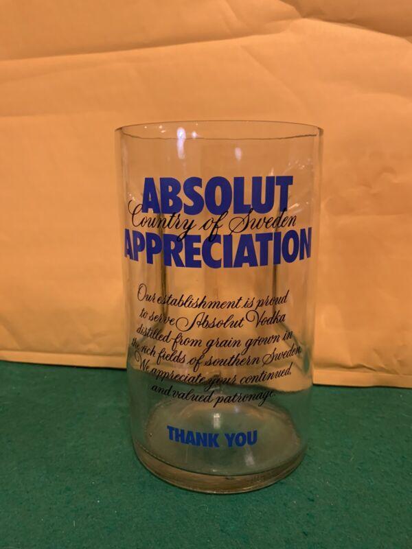 Absolut Appreciation Glass Tip Jar Absolut Vodka