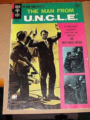 The Man From Uncle  20 Gold Key October 1968 Vaughn Mccallum Photo Cover   Nice
