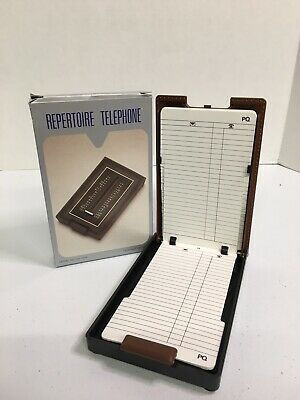 Vintage Flip-Up Telephone List Finder Index Directory New Open Box