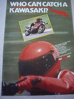 Kawasaki 1985 range brochure GPZ750R, 900R, Z1300 etc