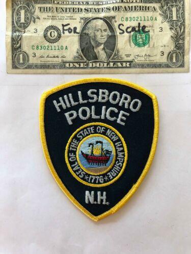 Rarer Hillsboro New Hampshire Police Patch un-sewn in mint shape