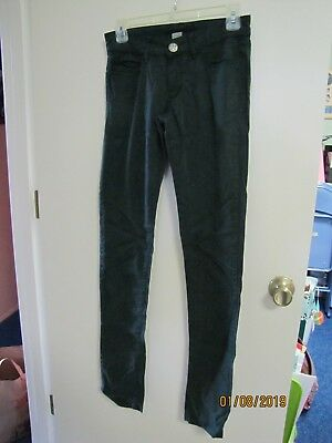 EUC 12345678 Juniors Dark Green Skinny Slim Pants Lyocell/Cotton/Spandex Size 5