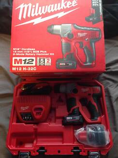 NEW Milwaukee M12H-32C 13mm SDS Plus Rotary Hammer Drill Kit North Narrabeen Pittwater Area Preview