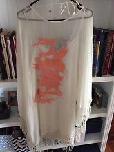 Kimono tassel shirt with Bird Embroidery Caversham Swan Area Preview