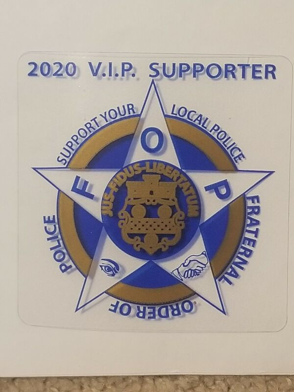 FOP 2020 VIP Supporter Decal Stickers