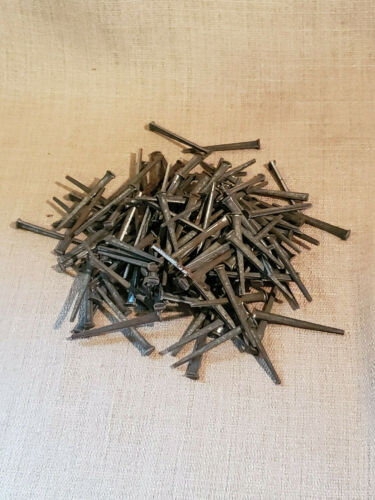 "Vintage Antique Lot of 2lbs 2 1/2"" Cut Square Nails NOS Conshohocken PA"