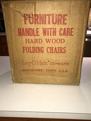 Lot of (4) Vintage Leg-O-Matic Folding Chairs, Gold Vinyl Seats,Wicker Backs