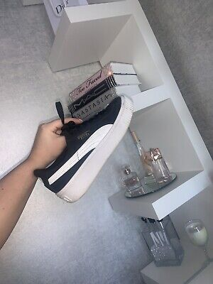 Puma Suede Platform  Trainers Size 3 Good Condition